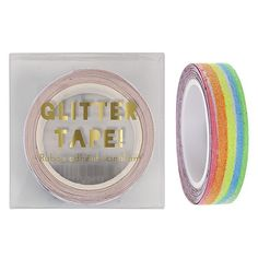 This fabulous rainbow glitter tape is perfect for adding extra style to your gift wrapping or sealing of envelopes. In fact, used on all stationery it'll give extra color and sparkle! Crystal glitter detailTape width: size: x x Bubblegum Balloons, Rainbow Balloons, Rainbow Paper, Chevron Tape, Glitter Chevron, Tapas, Scotch, Sweet Party, Graffiti
