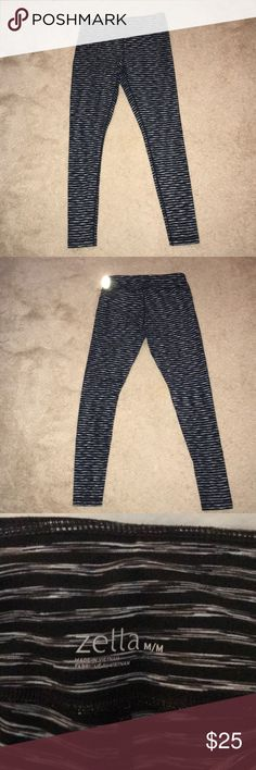 Zella live in leggings Black, grey and white leggings. Slight pilling at inner thigh. Zella Pants Leggings