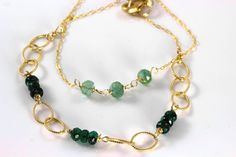 FREE SHIPPING Emerald bracelets Stacking bracelets May by julwelry, $39.00
