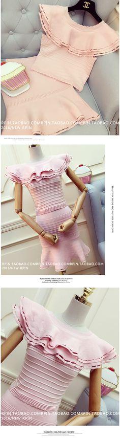 2016 cc diseñador runway marca 2 unids conjunto vestido de verano Mujeres de la colmena del punto crop top + cintura alta partido fishtail suéter traje vestido en Vestidos de Ropa y Accesorios de las mujeres en AliExpress.com | Alibaba Group