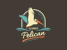 33 Creative Pelican Logo Designs You Must See Logo Inspiration, Unique Logo, Cool Logo, Typography Logo, Logo Branding, Sea Logo, Logo Luxury, Badge Design, Animal Logo