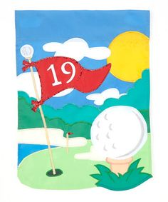 Women's Clothing With Cute Golf Applique Cute Golf Applique Garden Flag