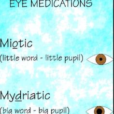 Eye Medications #nclex #nursing #nclexreview #pharmacology