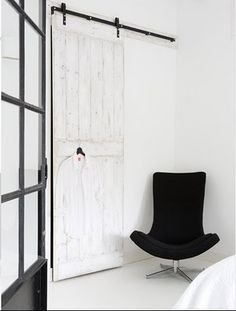 Sliding doors on pinterest plywood barn doors and doors - Kit porte coulissante en applique ...