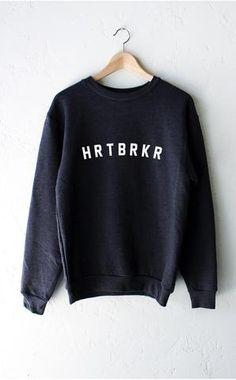 "- Description Details: Super soft & cozy 'Hrtbrkr' oversized crew neck fleece sweatshirt by NYCT Clothing. Oversized, unisex, loose fit. Measurements: (Size Guide) XS/S: 38"" bust, 27"" length, 25"" slee"