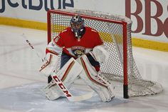 SUNRISE, FL - JANUARY 31: Goaltender Roberto Luongo #1 of the Florida Panthers warms up prior to the game against the Ottawa Senators at the BB&T Center on January 31, 2017 in Sunrise, Florida. (Photo by Joel Auerbach/Getty Images)