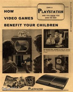 vintage advertisement of PS
