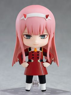 """Won't you be my darling?"" From the popular anime series ""DARLING in the FRANXX"" comes a Nendoroid of Zero Two wearing her uniform. She comes with three face plates including a fearless smile, an innocent smile with closed eyes as well as a si. My Hero Academia Merchandise, Anime Merchandise, Querida No Franxx, Kpop Anime, 2560x1440 Wallpaper, Chibi, Arte Hip Hop, Tokyo Otaku Mode, Anime Figurines"