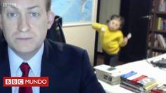 El profesor de ciencias políticas Robert Kelly le estaba dando una entrevista al canal internacional BBC World News por Skype cuando de pronto sus hijos entraron en su estudio. El video ya ha sido visto más de 10 millones de veces en Facebook.