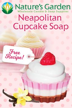 Free Neapolitan Cupcake Soap Recipe by Natures Garden