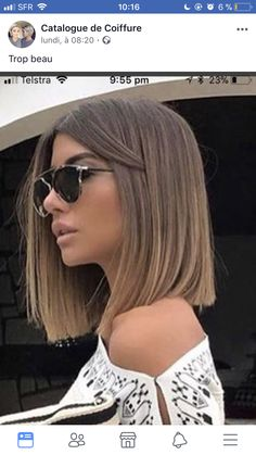 Beautiful haircuts Bob for 2018 with new pictures # pictures . - Top Trends Short Bobs Haircuts Look Sexy and Charming! Stacked Bob Hairstyles, Long Bob Hairstyles, Bob Haircuts, Medium Hair Styles, Short Hair Styles, Balage Hair, Best Ombre Hair, Bobs For Thin Hair, Short Brown Hair
