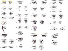 manga dibujo de ojos - Buscar con Google