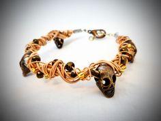 Gold-Tone Guitar String Bracelet w/ by OnceUponTheStars on Etsy