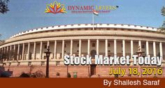 Nifty continued to trade in a range of 80 points on Friday after making a high of 8605.Today is a commencement of monsoon session of parliament and all eyes will be glued to Rajya Sabha on the tabling of the GST bill.  Read Stock Market Today by Shailesh Saraf at https://goo.gl/rsbMvl