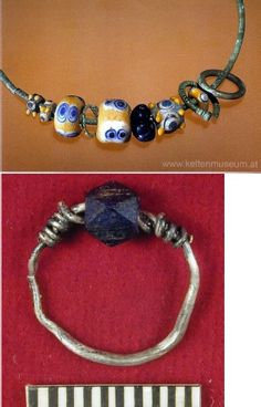 Glass Beads in Pre-Roman and Romano Celtic Society, the lower bead is a fine example of a nicely faceted bead.