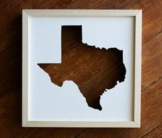 STATE CUT OUT FRAMES by PerrodinSupplyCo // Lone Star