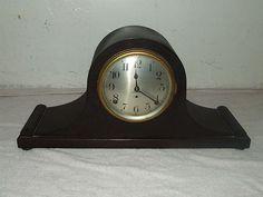 "Antique Working 1920's Seth Thomas ""sentinel #7"" Mahogany Tambour Mantel Clock"
