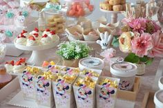 Sweet Table Details from a Boho Chic Minnie Mouse Birthday Party via Kara's Party Ideas KarasPartyIdeas.com (5)