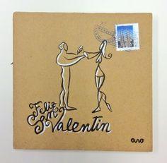 """Pareja dibujándose"" Campaña #sanvalentin postales personalizadas de #aroideas  http://www.aroideas.com/postales/"