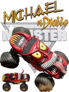 Personalized Custom NAME T-shirt Monster Truck El Diablo Monster Jam