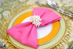 bow napkin ~ Love this idea!