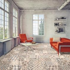 Coventry grey patterned floor tiles are a lovely choice for grey kitchen tiles or grey tiled bathrooms and hallways. Use on their own or mix with plain grey floor tiles for individual tile designs.