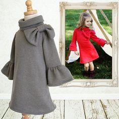 Girls sewing pattern PDF, Childrens sewing pattern, baby sewing pattern, Easy, Knit pattern, Instant Download, Elke Dress via Etsy
