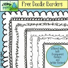 14 FREE black and white borders to make your projects really POP! 7 borders in blackline (black lines, transparent center), plus 7 borders in black and white (black lines, white center). Take a peek at more free products in my Chirp Graphics shop! Borders Free, Cute Borders, Doodle Borders, Borders For Paper, Borders And Frames, Classroom Borders, Border Templates, Paper Templates, School Border