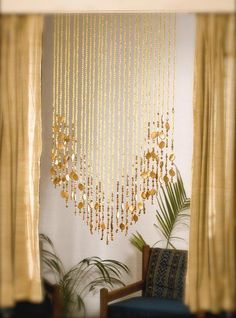 No beads. gold curtains | Champagne Gold Basket Bead Curtain | Memories of a Butterfly
