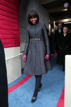 Michelle Obama in Thom Browne with a J. Crew belt. Killing it, as always.