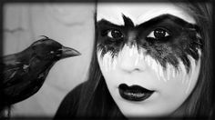 10 Spooky Makeup Looks for the Halloween Fanatic Indian Face Paints, Raven Costume, Dance Makeup, Dark Witch, Face Paint Makeup, White Makeup, Makeup Tutorials Youtube, Theatrical Makeup, Halloween Makeup Looks