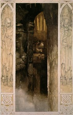 Alan Lee illustration from 'Culhwch and Olwen' from 'The Mabinogion'