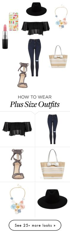 """Untitled #20"" by zombiecat5 on Polyvore featuring Topshop, rag & bone, MAC Cosmetics, Mixit, Kate Spade and Gianvito Rossi"