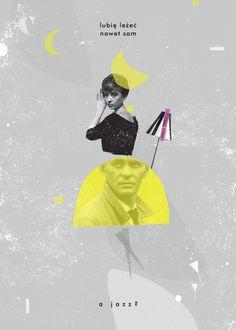 """Autorski plakat Magdaleny Pilaczyńskiej, nawiązujący do filmu """"Niewinni czarodzieje"""". Grafika nada wnętrzu unikalny charakter."""