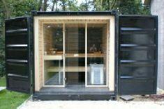 Resultado de imagem para container sauna