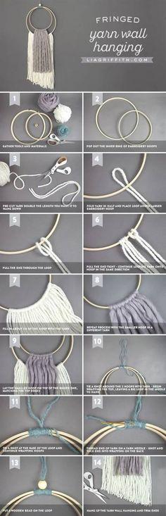 Super Craft Yarn Diy Wall Hangings 21+ Ideas #diy #craft