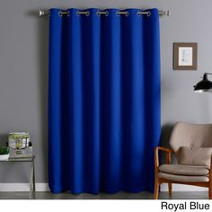 Aurora Home Extra-Wide Thermal Insulated 84-inch Blackout Curtain Panel (Royal Blue), Size 80 x 84 (Polyester, Solid)