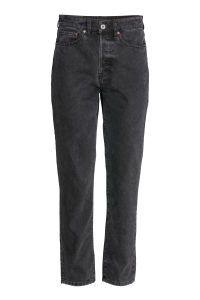 Vintage High Cropped Jeans   Dunkelgrau   DAMEN   H&M DE