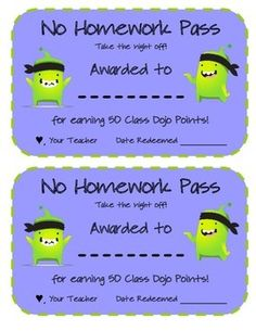 CLASS DOJO REWARD MENU AND AWARD CERTIFICATE PACK - This is a great way to reward students without buying anything.