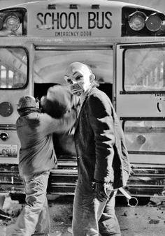 The Joker in disguise in Batman Joker Heath, Le Joker Batman, Joker Clown, Batman The Dark Knight, The Dark Knight Trilogy, Joaquin Phoenix, Dc Comics, Christian Bale, Gotham City