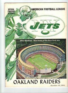 VINTAGE OCTOBER 10, 1964 NEW YORK JETS & OAKLAND RAIDERS PROGRAM AFL NFL