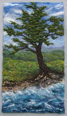 Landscape Felting, Felting Classe - Halcyon Yarn, Quality and Value for Fiber Artists