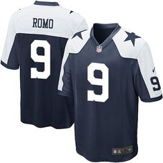 Nike Limited Tony Romo Navy Blue Youth Jersey - Dallas Cowboys #9 NFL Throwback Alternate