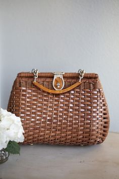 I love wicker. And wicker bags. I love anything where you can see craftsmanship.