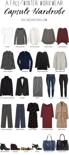 I was asked if I could put together some fall/winter business casual workwear outfits so this weeks list is a fall/winter workwear capsule