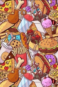 Pin de тo sh em картинки em 2019 emoji wallpaper, food wallpaper e screen w Food Wallpaper, Emoji Wallpaper, Tumblr Wallpaper, Screen Wallpaper, Pattern Wallpaper, Wallpaper Backgrounds, Food Background Wallpapers, Neon Light, Food Illustrations