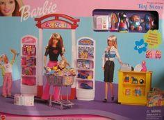 Barbie Toy Store Playset w Mini Toys! Mattel Barbie, Barbie Kids, Barbie Doll Set, Barbie Doll House, Bratz Doll, Barbie Dream House, Dolls, Vintage Barbie, Barbie Store
