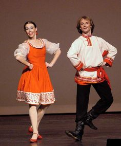 New York based Russian folk dance and music ensemble Barynya: Russian folk dancers Olga Chpitalnaia, Vitaly Verterich
