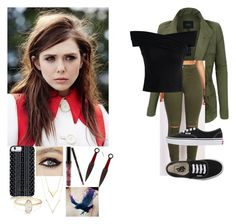 Nora Luna by thehellcats on Polyvore featuring polyvore fashion style Chicwish LE3NO Vans Savannah Hayes Kylie Cosmetics Olsen clothing
