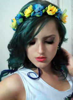 #karline #headband #hippie #boho #chic #folk #gypsy #60's #70's #purple blue hair my fasion style brasil